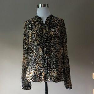 Zara Basic Chiffon Blouse, small